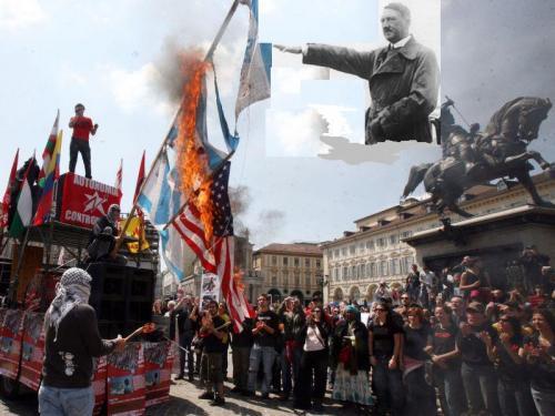 Torino, bruciate bandiere israeliane