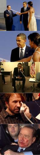 berllusconi e obama