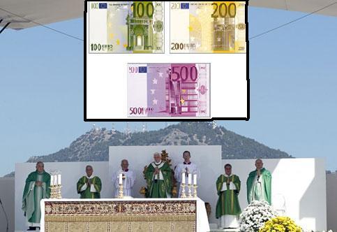 papa messa foro italico in euro
