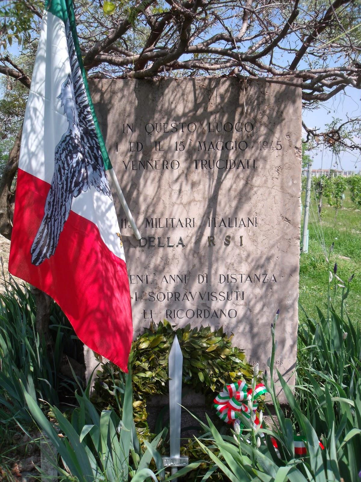monumento ai giovani uccisi dai partigiani a Ponte della Priula