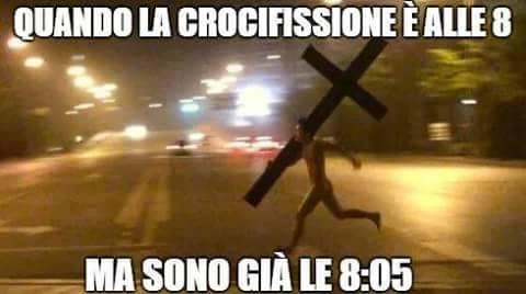 crocifisione alle otto