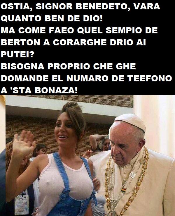 papa bergoglio adora le tette