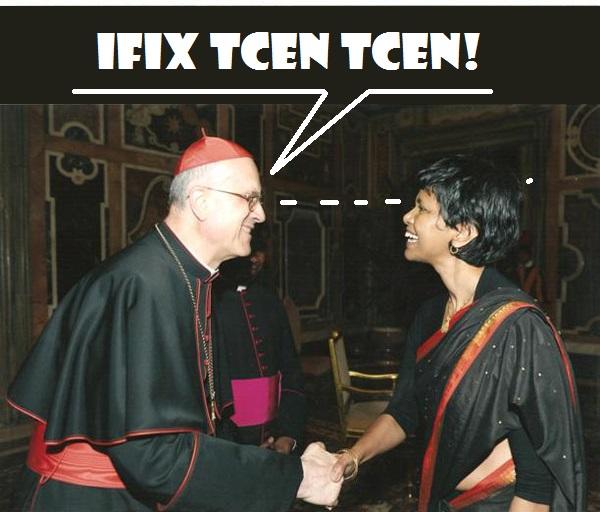 cardinal bertone ifix chen chen  prete