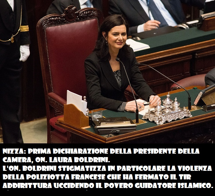 ROME, ITALY - MARCH 16:  Laura Boldrini, deputy for SEL civic list, smiles as she is nominated as the new President of the Chambers of Deputy on March 16, 2013 in Rome, Italy. The new Italian parliament, which opens the 17th Legislature, has the task of electing the President of the House of Parliament and of the Senate, before giving way to a new government.  (Photo by Giorgio Cosulich/Getty Images)